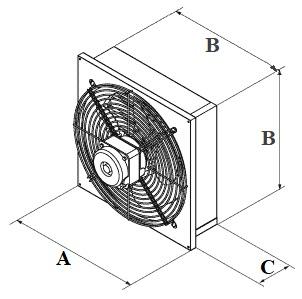 Shema - Вентилятор осевой ВО-2,0 с жалюзи