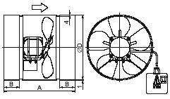 Фото Вентилятор осевой канальный ВОК-3,0