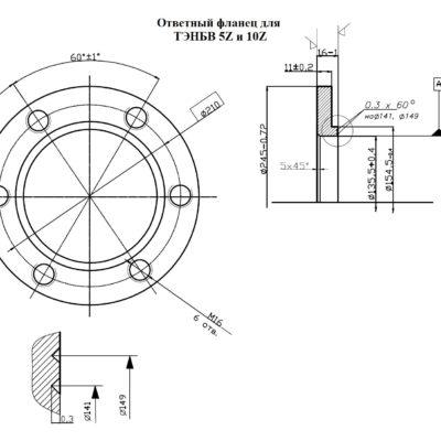 Ответный фланец для ТЭНБВ-5/Z 220